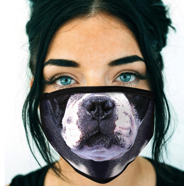 Funny Boston Terrier Face Mask