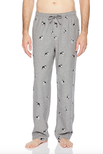 Men's Boston Terrier Flannel Pajama Pants