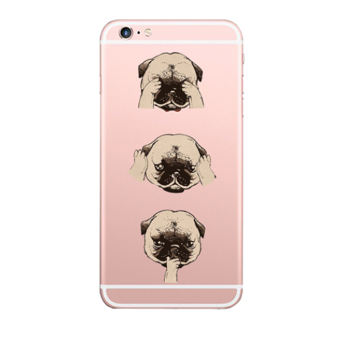 Cute Pug Soft Phone Case