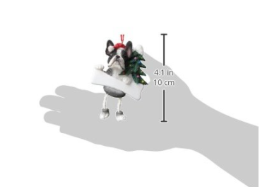 Boston Terrier Christmas Ornament - Tree and a Bone