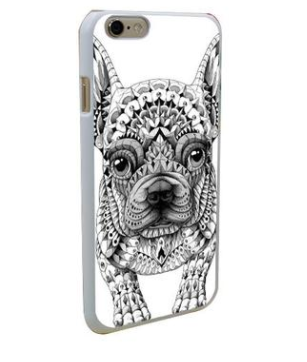 Cool French Bulldog Hard Phone Case for iPhones