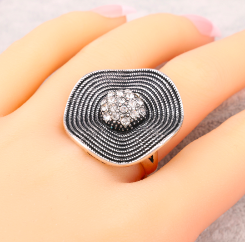 Silver Plated Statement Flower Ring