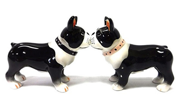 Boston Terrier Magnetic Salt And Pepper Shakers