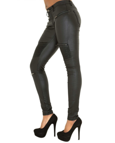 Hot Girl Collection: Stretch Faux Leather Skinny Pants