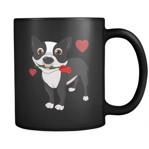 Black Boston Terrier in Love Mug