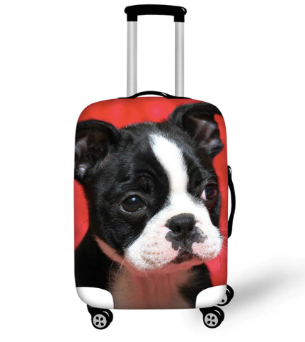 Adorable Waterproof Boston Terrier Luggage Covers