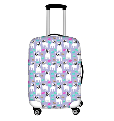 Adorable Waterproof Boston Terrier and French Bulldog Pattern Luggage Covers