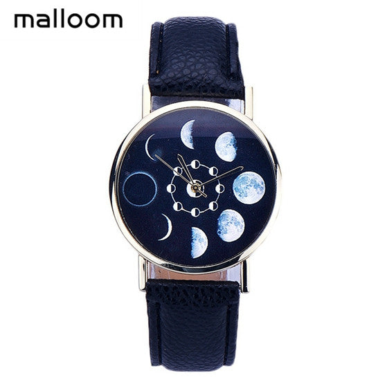 Trendy Moon Phases Quartz Watch