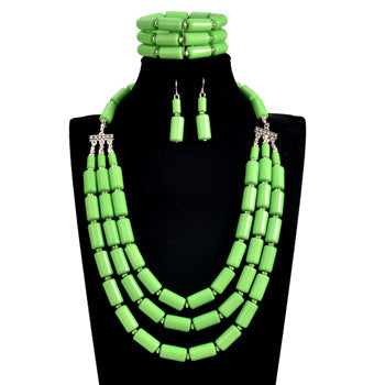 Tribal African Beads Jewelry Set