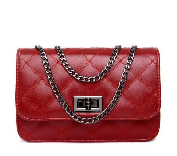 Elegant Mini Shoulder Bag with Chain Strap
