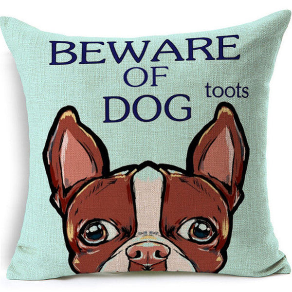 I Love My Boston Terrier Cute Pillow Cases