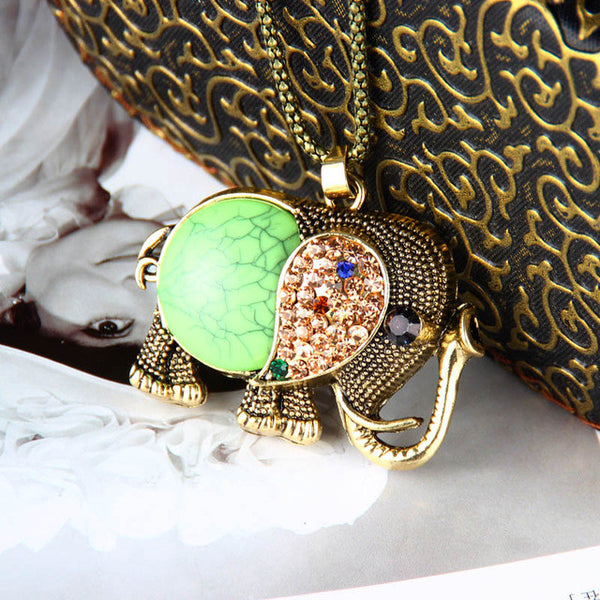 Cute Vintage Elephant Necklace