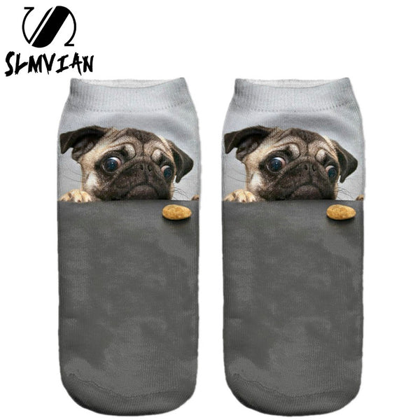 Cute Pug Staring at the Food Socks