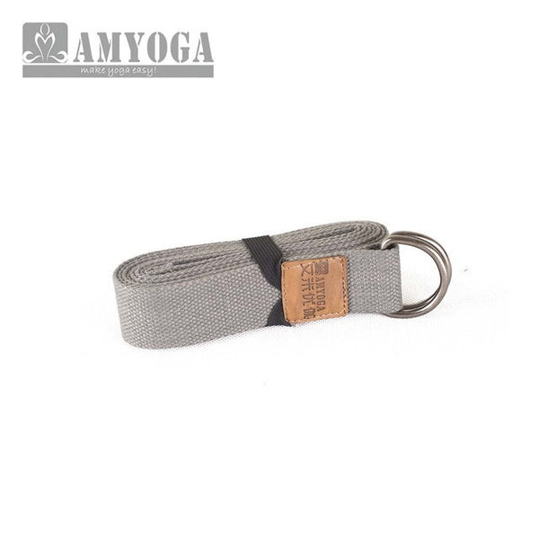 Deluxe Extra Long Cotton Yoga Strap with D-ring