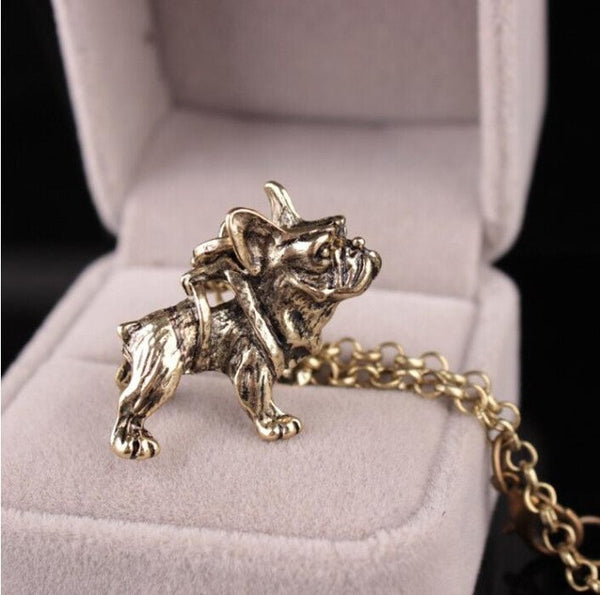 Cute Vintage French Bulldog Pendant