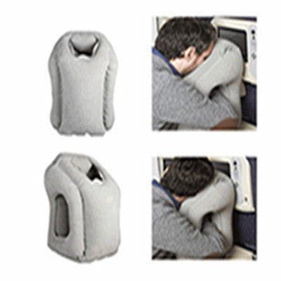 *Inflatable Travel Pillow for Chin and Head Support