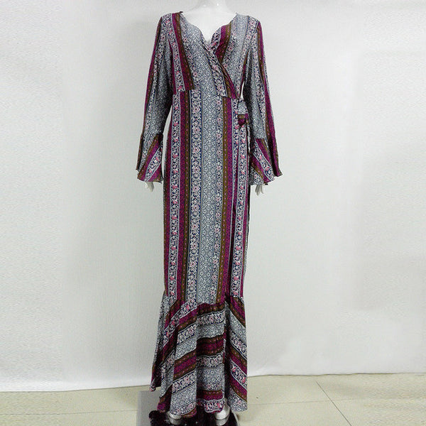 Bohemian High Split Maxi Summer Dress