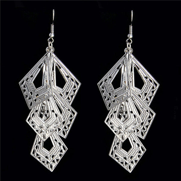 Elegant Plated Dangle Earrings