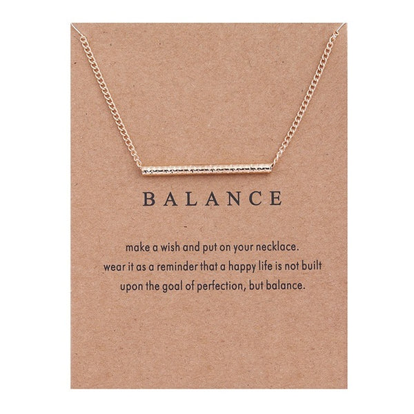 "Gold Plated ""Balance"" Charm Pendant"