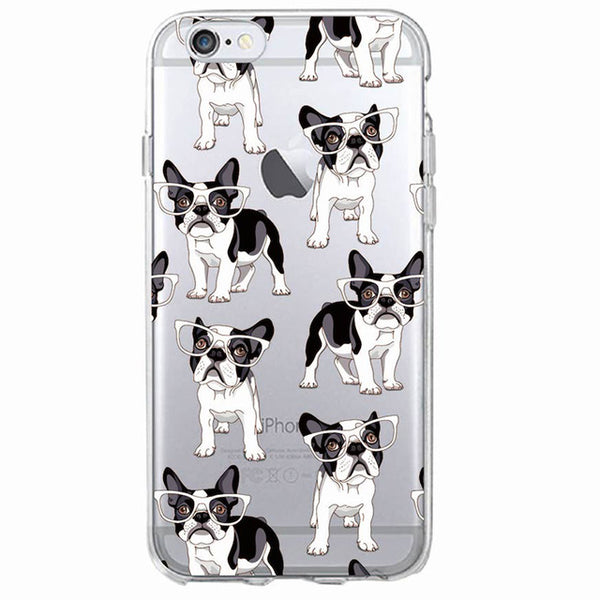 Cute Cartoon Dog Phone Cases: French Bulldog, Boston Terrier, Pug Series