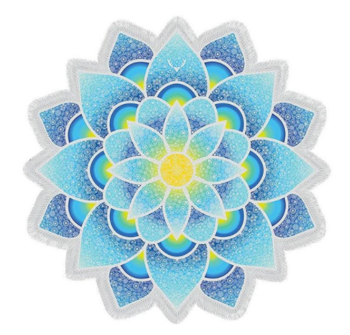 Indian Tapestry Mandala Lotus Yoga Towel