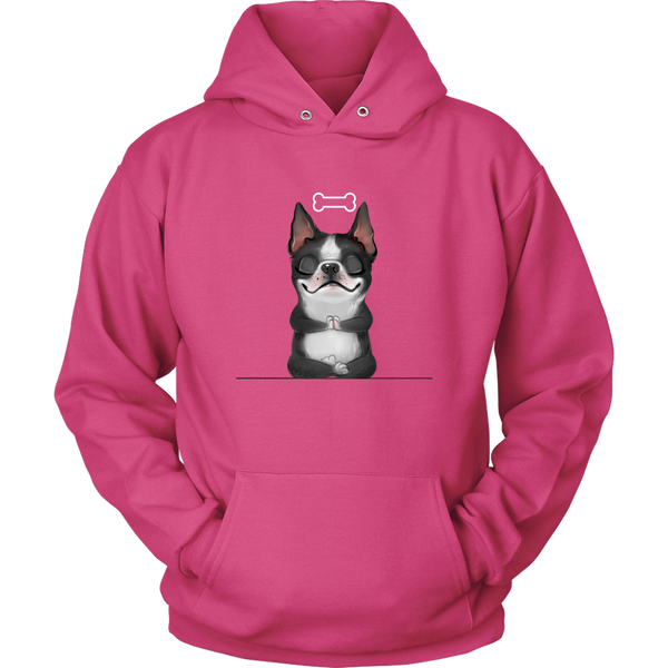 Funny Boston Terrier and a Bone Hoodie