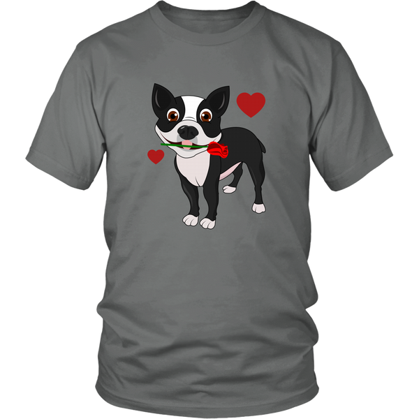 "Cute ""Boston Terrier in Love"" T-Shirt"