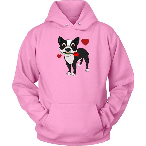 Boston Terrier in Love Hoodie