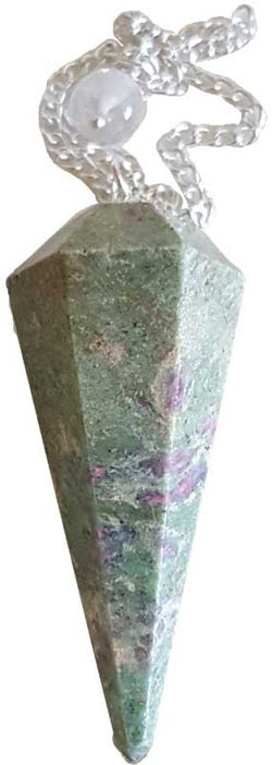 Ruby Zoisite 6-Sided Pendulum