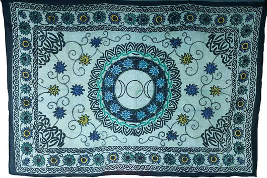 Flower Triple Moon Tapestry 72