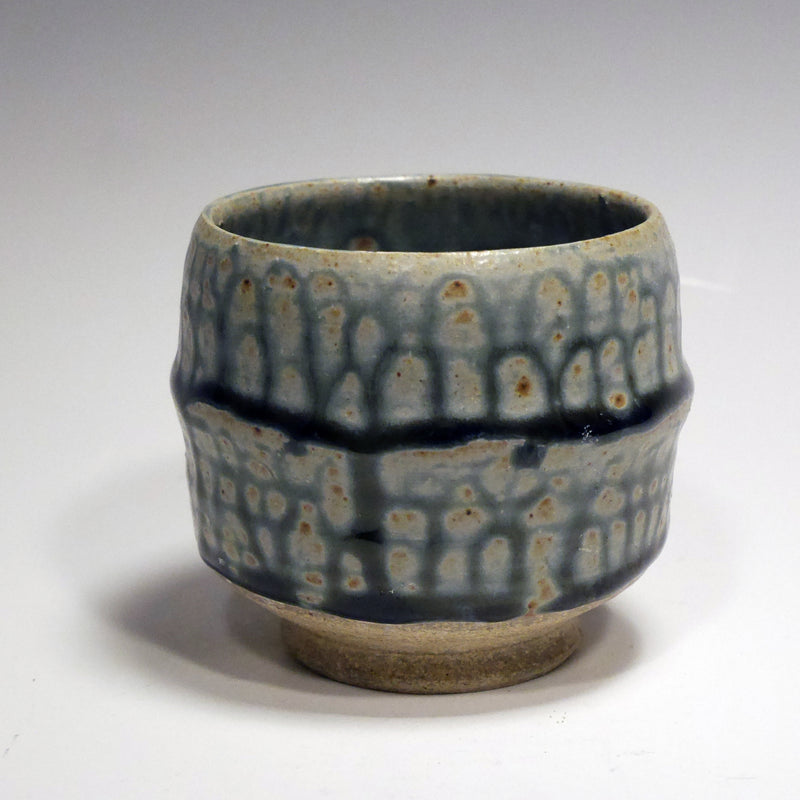 Blue Ash-glazed cup