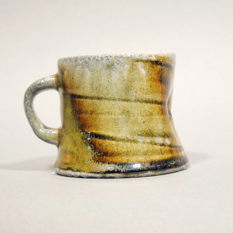 Indented wood fired mug