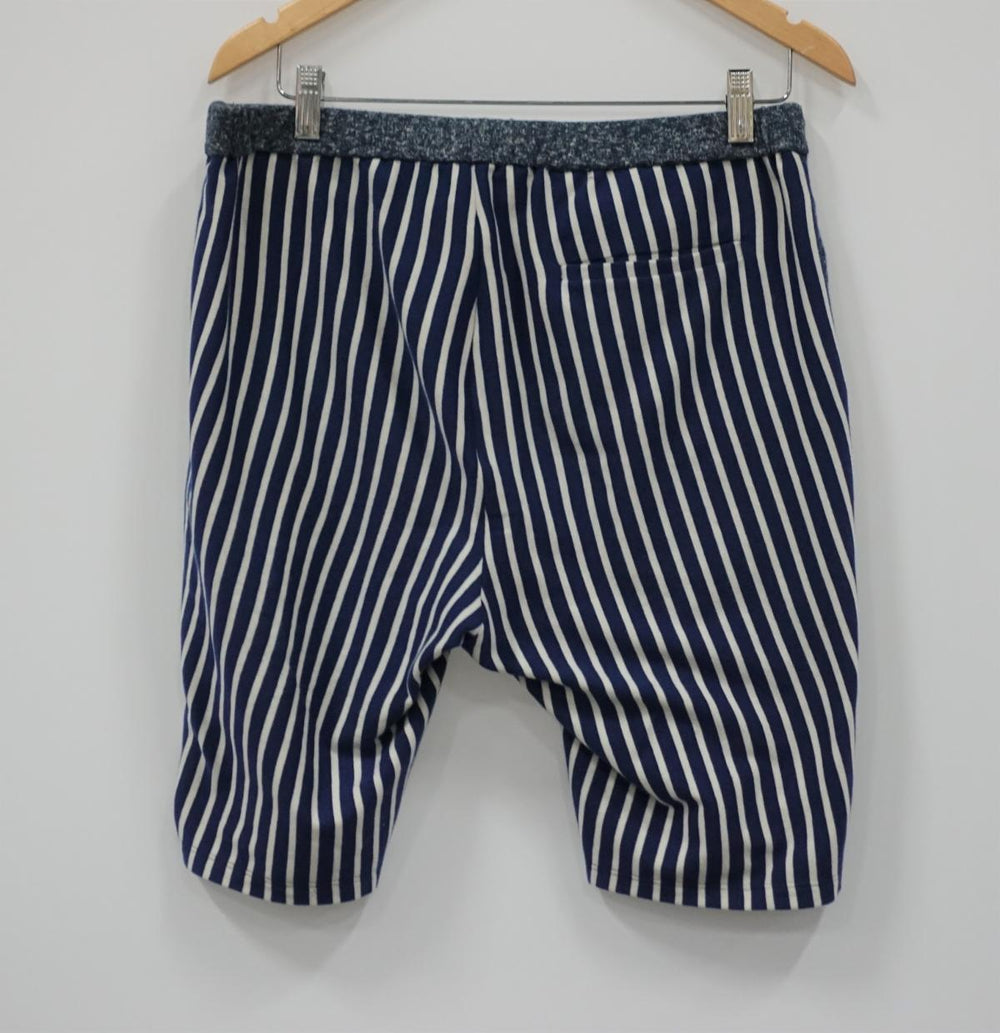 Organic cotton and hemp drawstring long shorts