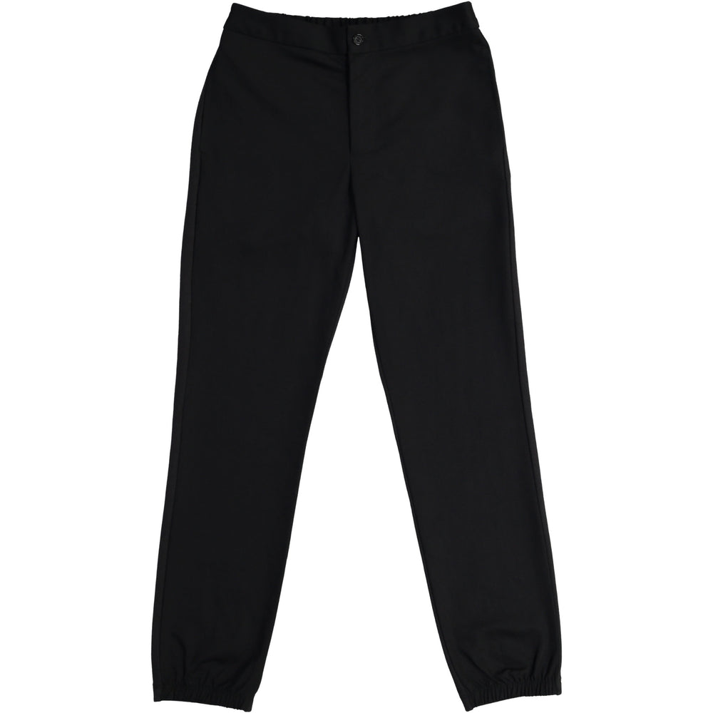 Black Mens Jogger Chinos are crisp looking and comfortable feeling.  Sustainable style!