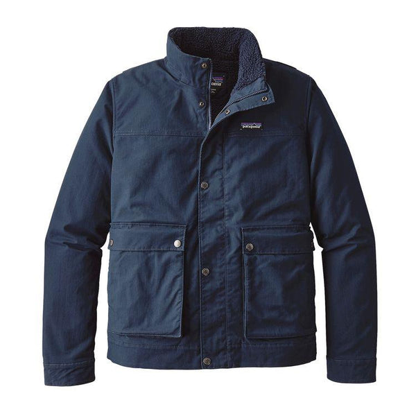 PATAGONIA NAVY MAPLE GROVE CANVAS FLEECE LINED JACKET