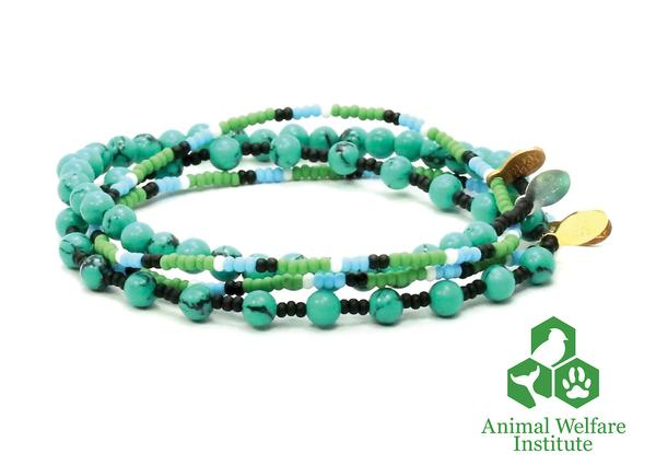 BEAD RELIEF ANIMAL WELFARE INSTITUTE BRACELET CHARITY STACK