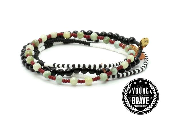BEAD RELIEF YOUNG AND BRAVE CHARITY COMBO STACK