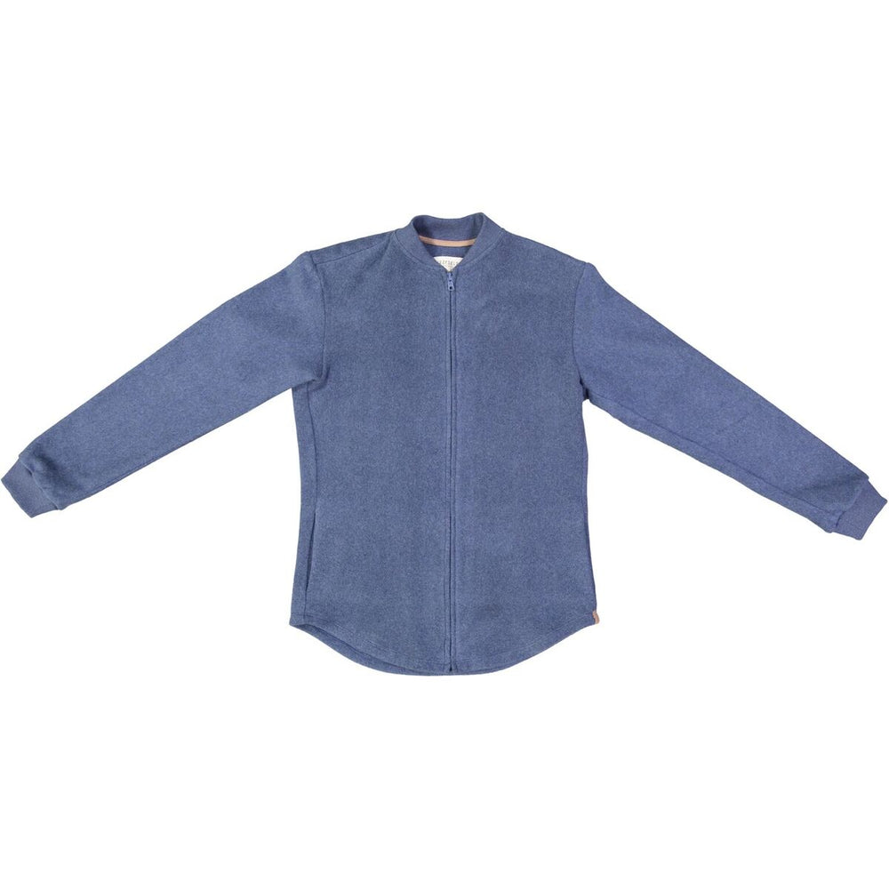 DENIM BLUE MELANGE BOMBER SHIRT, NOW AVAILABLE IN WOMEN'S
