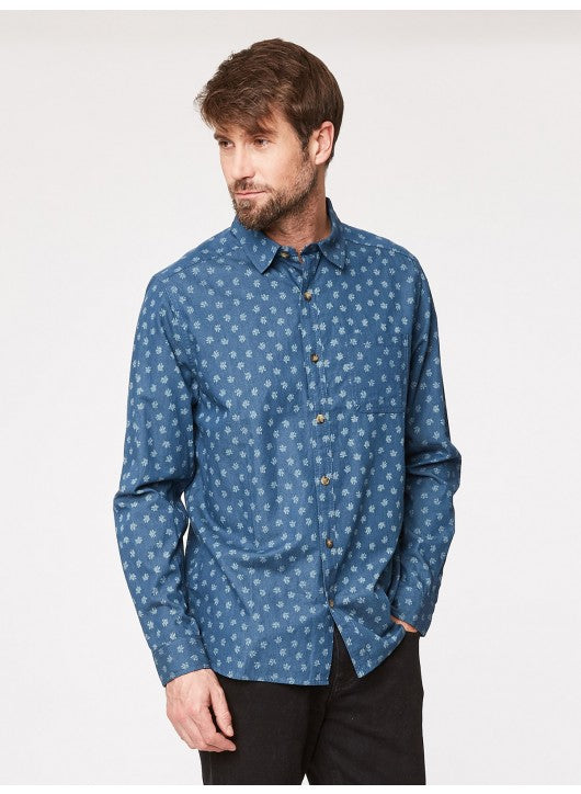 THOUGHT ORGANIC COTTON BLUE CHAMBRAY IN AN EXCLUSIVE PRINT