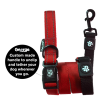 Stop & Go Shock Absorbing Bungee Dog Leash - Red