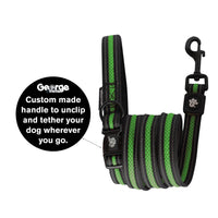 Stop & Go Air Mesh Dog Leash - Green