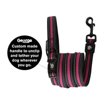 Stop & Go Air Mesh Dog Leash - Pink