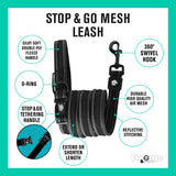 Stop & Go Air Mesh Dog Leash - Black