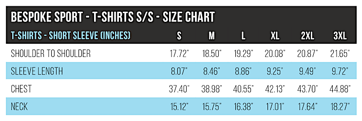 BESPOKE - Ts Sizing Guide