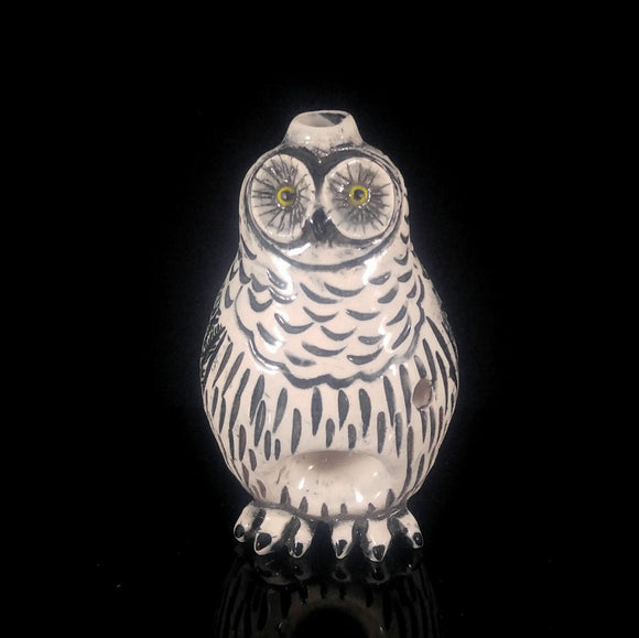 Snow Owl Ceramic Porcelain Pipe
