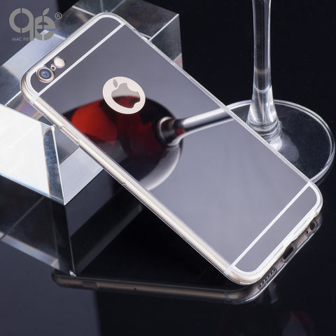 Luxury Mirror Soft Case Iphone 6 6S 4.7inch TPU Frame Cover Iphone 6 6S Plus Ultra Slim 5 5SE