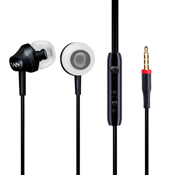 Portable Mini Bass Earphone iPhone 5 6 Samsung Mobile Phone Microphone Wired Outdoors Sport 120CM