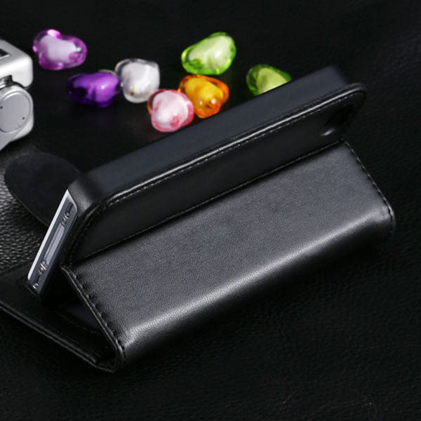 iPhone 4S Leather Case Card Slot Stand Wallet Case For iPhone 4 4S 4G Photo Frame Flip Phone Cover