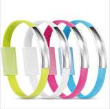 Colorful Bracelet Twisted Cable Bangle Android Micro USB Data Charging Cable Samsung iPhone 5 6 Plus