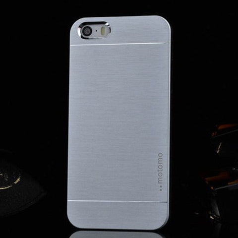 Luxury Hybrid Metal Brushed Hard Slim Case Cover For Apple iPhone 5 5S